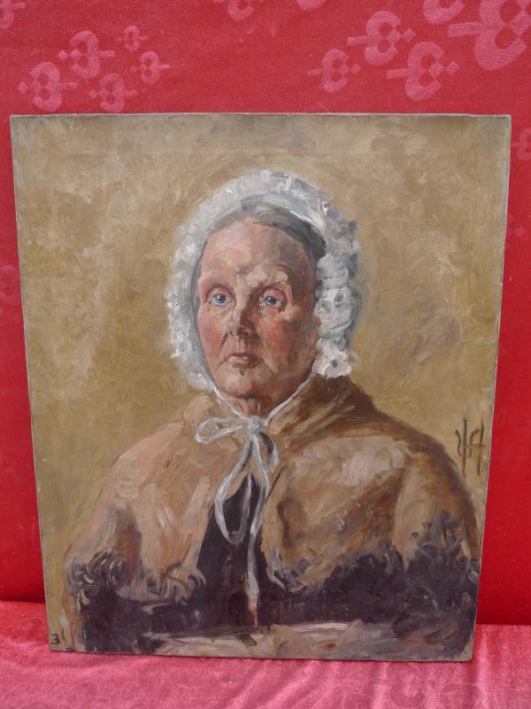 bonito muy vieja pinturas portrait una dama inglaterra biedermeier firmado ebay. Black Bedroom Furniture Sets. Home Design Ideas