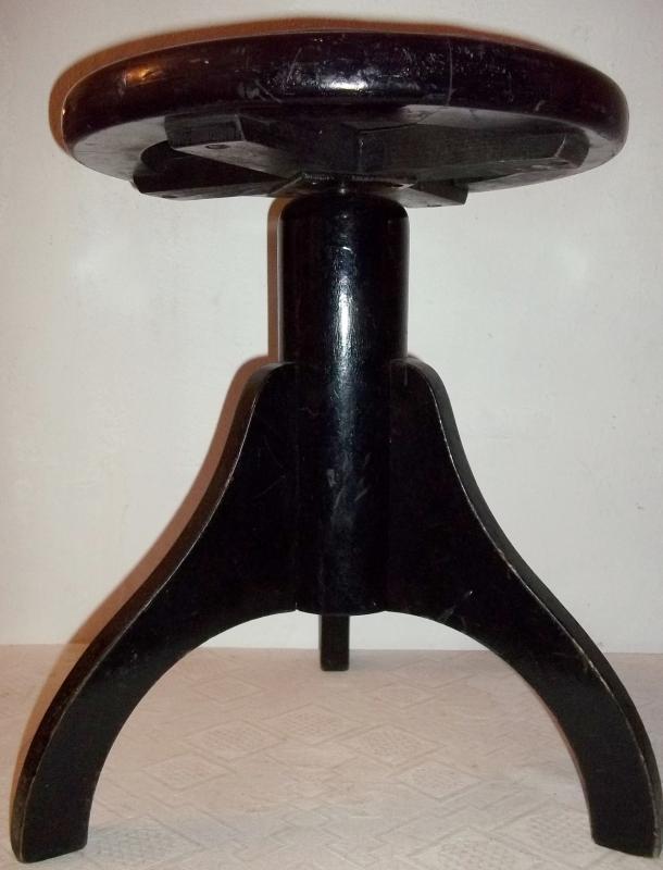 alter klavierhocker hocker holz h henverstellbar metallspindel ebay. Black Bedroom Furniture Sets. Home Design Ideas