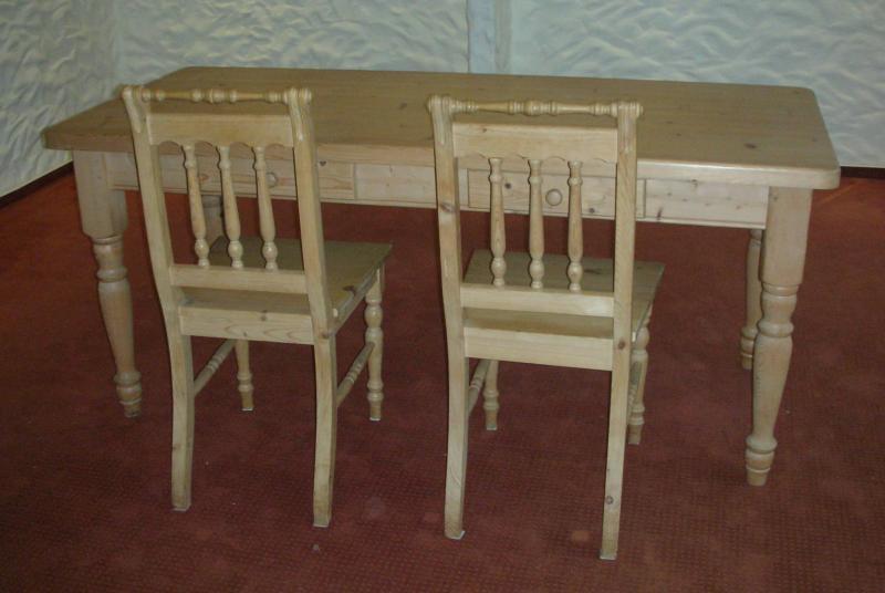 esstisch 180 cm x 80 cm tisch weichholz mit 2 schubladen abholung bei d sseldorf. Black Bedroom Furniture Sets. Home Design Ideas