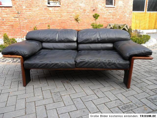 ausgefallenes leder sofa hain thome designklassiker np 3900euro ebay. Black Bedroom Furniture Sets. Home Design Ideas