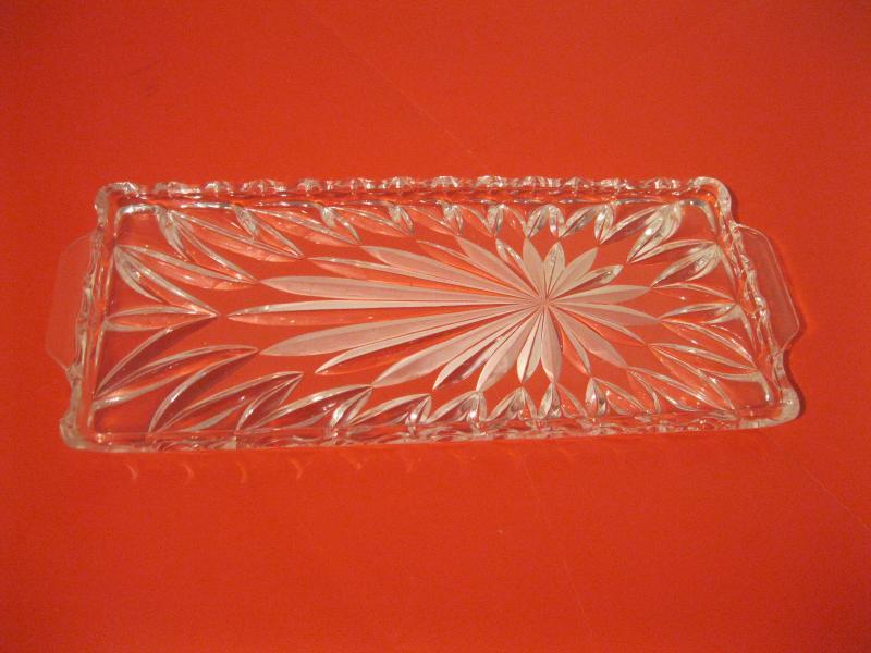 2 x glasplatte stollenplatte kuchenplatte eckig geb ckteller glas kristallglas. Black Bedroom Furniture Sets. Home Design Ideas