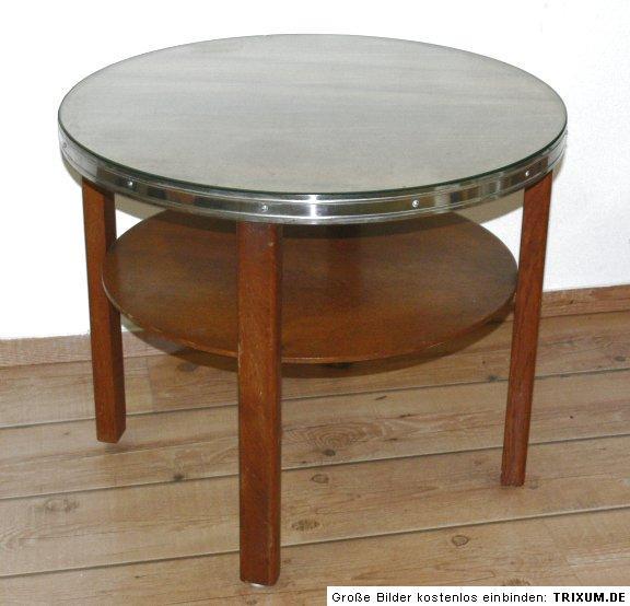 runder tisch eiche nussbaum um 1930 ebay. Black Bedroom Furniture Sets. Home Design Ideas