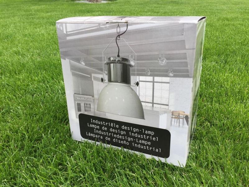 industriedesign lampe h ngelampe lampe edelstahl creme. Black Bedroom Furniture Sets. Home Design Ideas