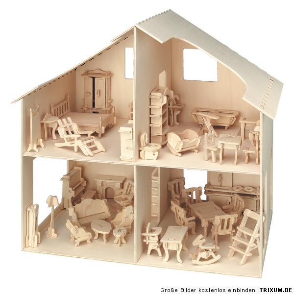 puppenhaus mit mbel holzbausatz zum selber bauen gestalten moderne - Mbel Selber Bauen Baumholz