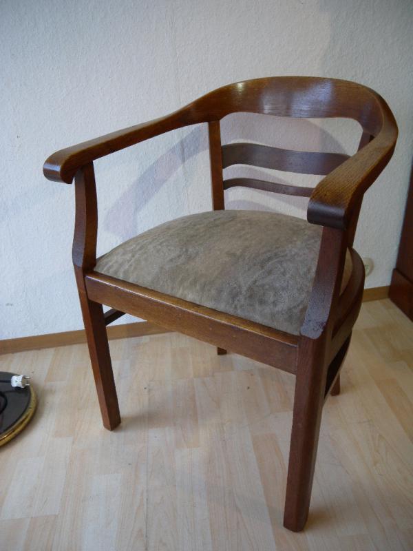 art deco armlehnstuhl schreibtisch stuhl sessel 20er 30er jahre ebay. Black Bedroom Furniture Sets. Home Design Ideas