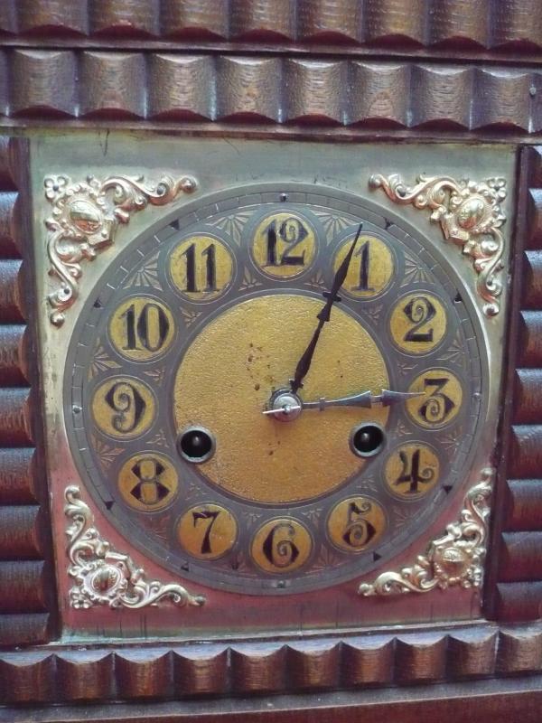 vieille horloge de chemin e horloge pendule en laiton de bois 32cm. Black Bedroom Furniture Sets. Home Design Ideas