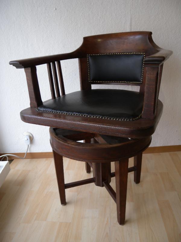 jugendstil art deco drehstuhl armlehnstuhl eiche stuhl. Black Bedroom Furniture Sets. Home Design Ideas
