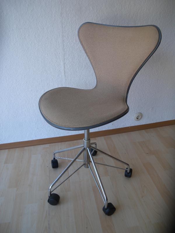 b rostuhl arne jacobsen 3117 fritz hansen drehstuhl architektenstuhl chair ebay. Black Bedroom Furniture Sets. Home Design Ideas