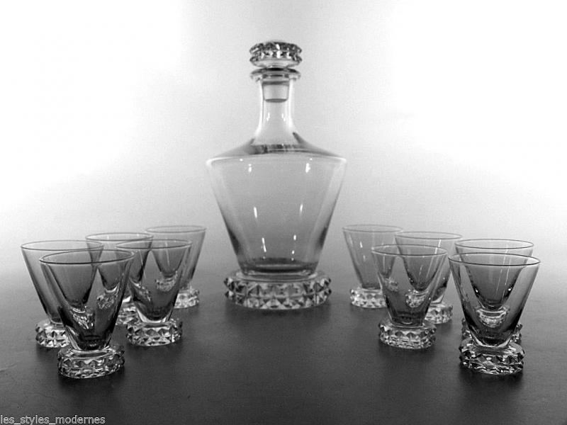 saint louis france glas kristallglas karaffe 10 gl ser modell new diamant ebay. Black Bedroom Furniture Sets. Home Design Ideas