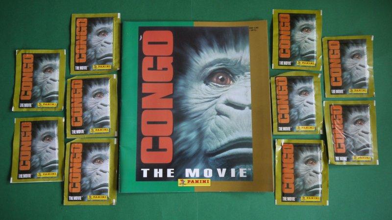CONGO the Movie 50 boîtes PANINI FOOTBALL STICKER neuf dans sa boîte non ouvert 1995