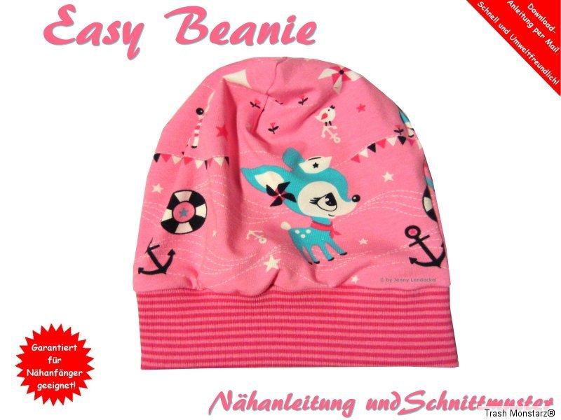 Easy Beanie Mütze selber nähen, Nähanleitung und Schnittmuster | eBay