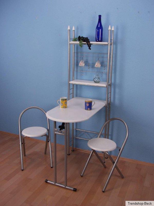 Küchentheke Wandtisch Stühle Tisch Regal Esstisch Klapptisch ...