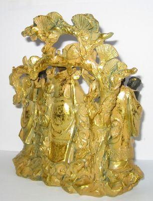 Weihnacht Figur 18cm Hausgötter Fu Luk Sau für Glück und Schutz des Hauses