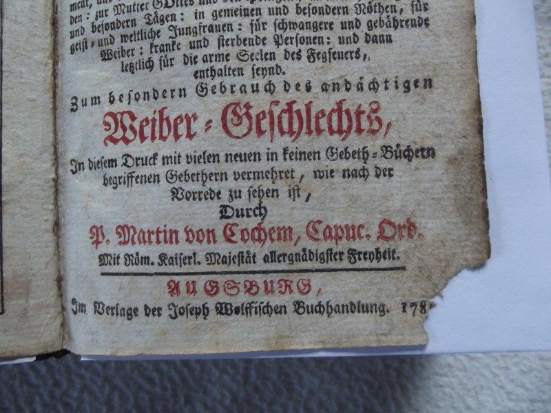 antikes gebetsbuch goldener himmel schl ssel augsburg 1780 ebay. Black Bedroom Furniture Sets. Home Design Ideas