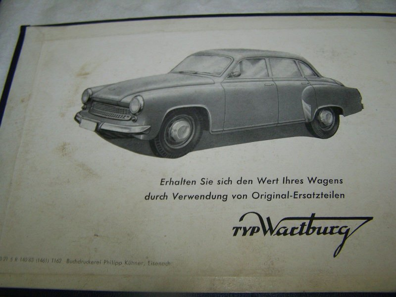 ddr ersatzteilkatalog f r wartburg 311 ifa ebay. Black Bedroom Furniture Sets. Home Design Ideas