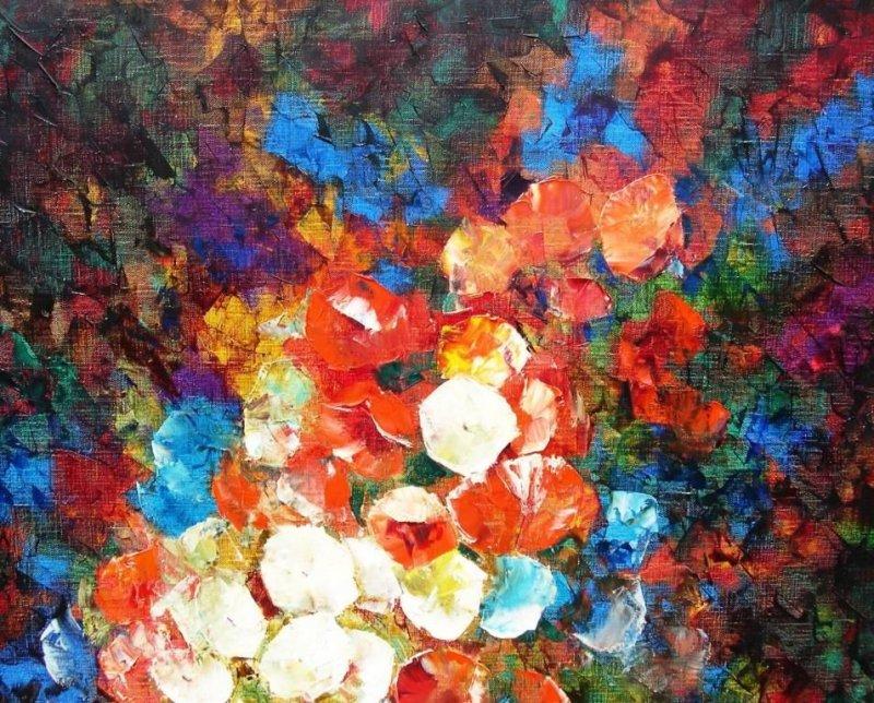 hermann dieste 1931 dortmund gem lde abstrakt florale komposition 1965 69 ebay. Black Bedroom Furniture Sets. Home Design Ideas