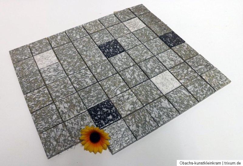 Tile mosaic floor tiles flooring mats green grey 50er 60er - Bodenfliesen retro ...