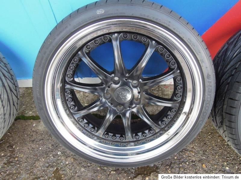 Alufelgen Felgen BMW E39 E46 M3 Tiefbett Edelstahl 265/30 235/35 19