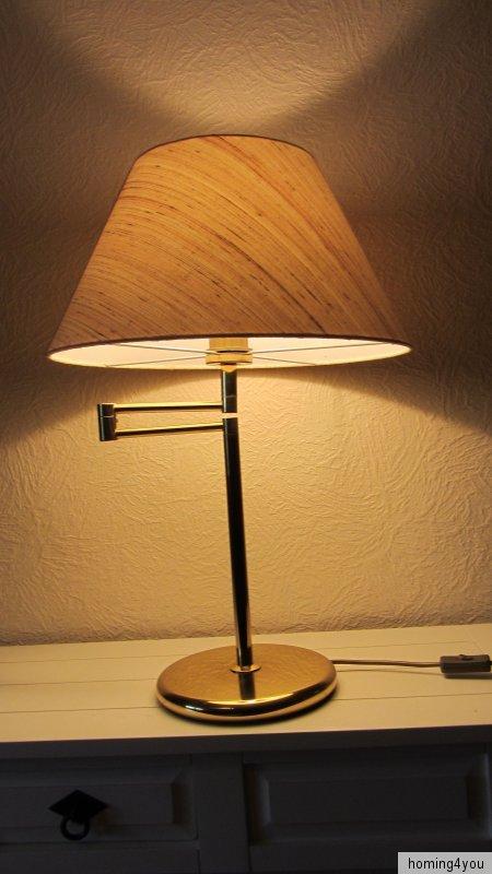 tischlampe 39 70er jahre leselampe schwenkarm messing schreibtisch leuchte ebay. Black Bedroom Furniture Sets. Home Design Ideas