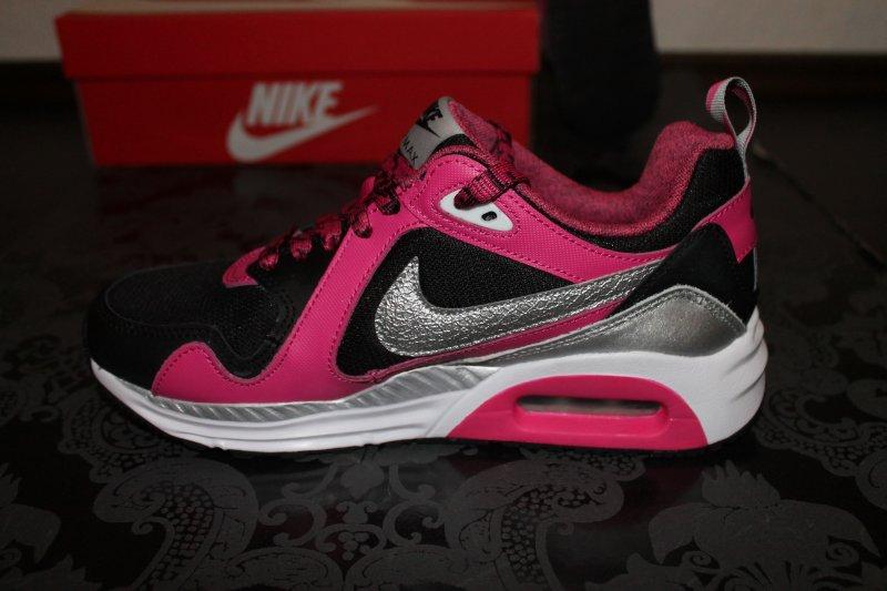 Details zu Nike Air Max Trax Damen Running Schuhe Schwarz Pink Lila Größe 38 oder 38,5 Neu