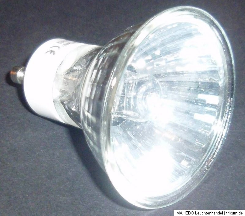 gu10 gz10 20w halogen lampe hochvolt 230 230v 20 watt reflektor kaltlichtspiegel ebay. Black Bedroom Furniture Sets. Home Design Ideas
