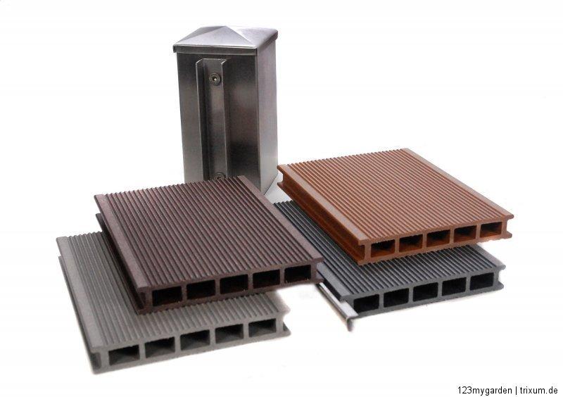 wpc sichtschutz zaun windschutz garten holz kunststoff sichtschutzzaun terrasse ebay. Black Bedroom Furniture Sets. Home Design Ideas