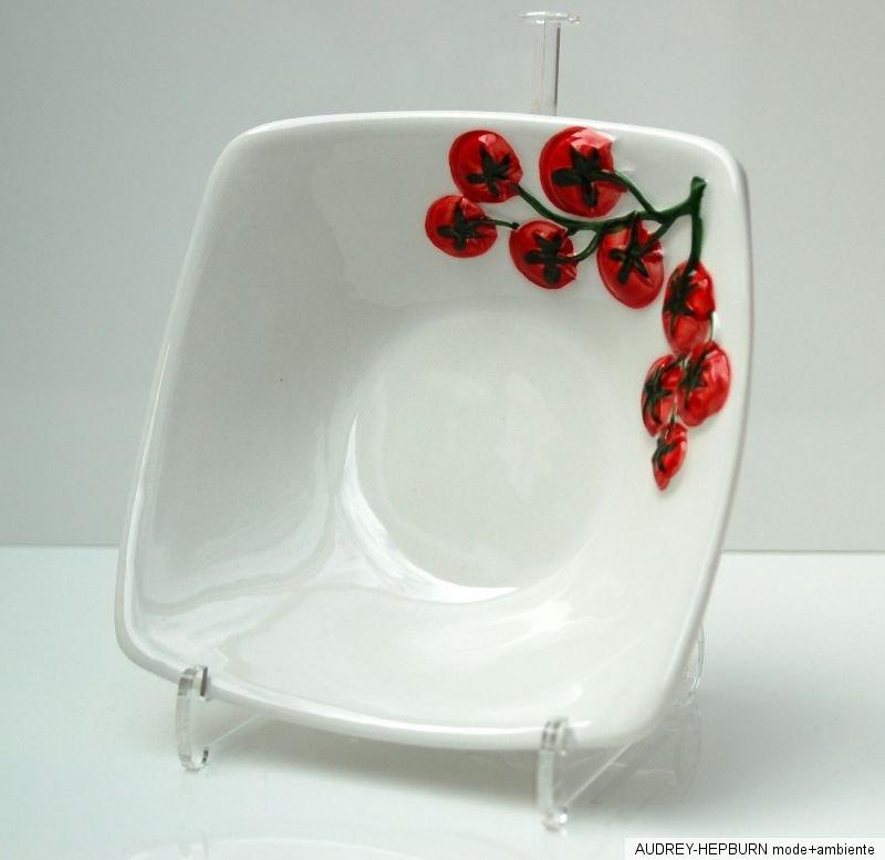 bassano keramik quadratische sch ssel 16 cm kirschtomate. Black Bedroom Furniture Sets. Home Design Ideas