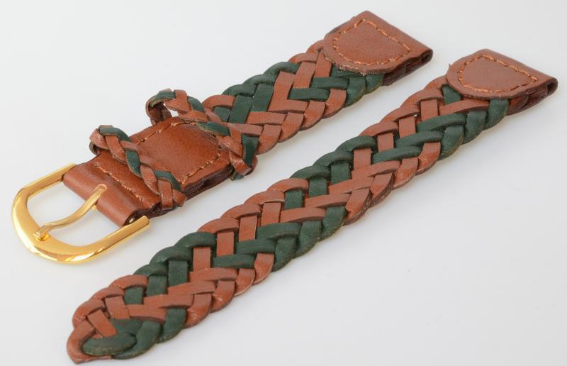 Echtes Juchten-Leder-Uhrenband mit Uhrenlederunterlage 18+20+22 mm Angebot