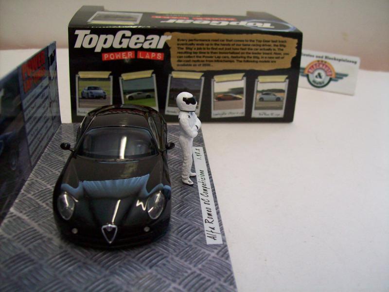 """alfa romeo 8c competizione """"top gear"""", black, 2010, minichamps 1:43"""