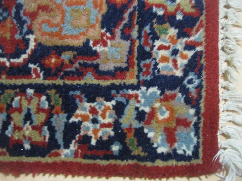alter orientteppich indien handgekn pft rot 75 x 135 cm indischer teppich br cke ebay. Black Bedroom Furniture Sets. Home Design Ideas