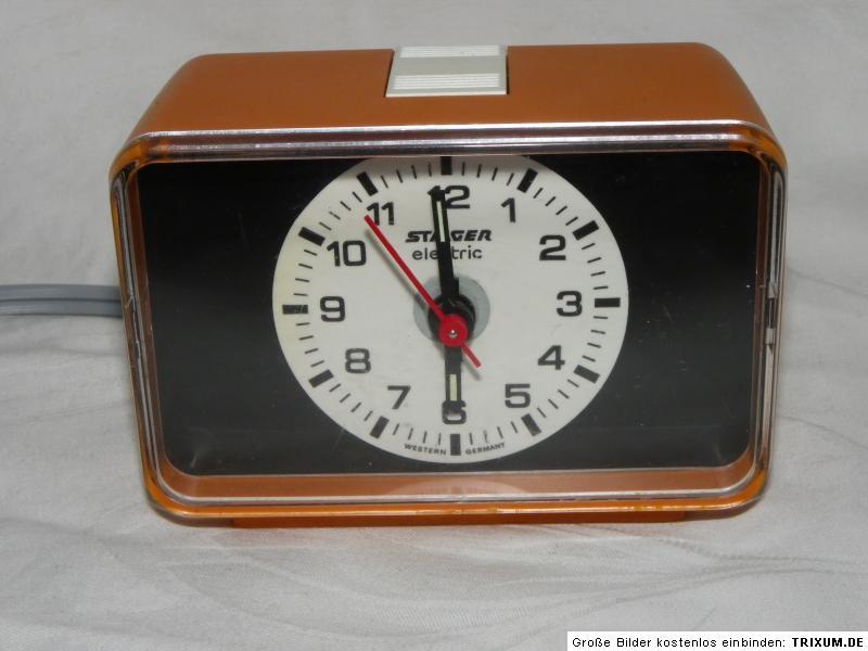 alarm clock staiger electric wecker type 5024 elektrisch. Black Bedroom Furniture Sets. Home Design Ideas