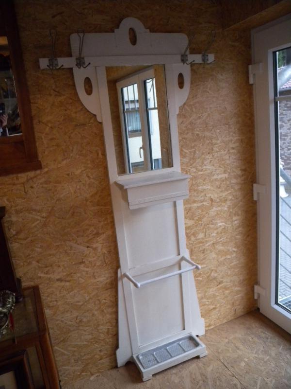 ausgefallene vintage wei antik jugendstil garderobe spiegel um 1900 shabby chic ebay. Black Bedroom Furniture Sets. Home Design Ideas