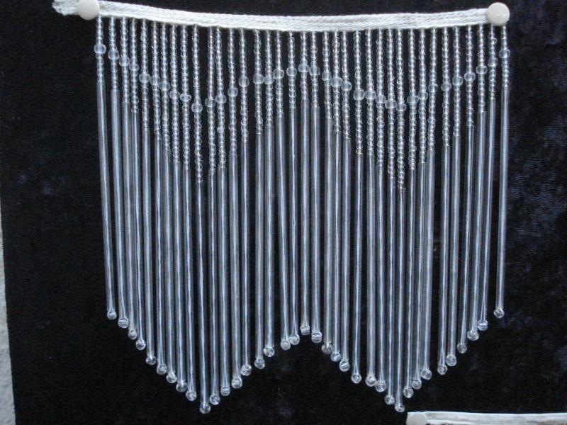 Glas Fransenband Perlband Höhe 12 cm Art Deco Stil/_20 cm bis 5 M/_f Lampenschirme