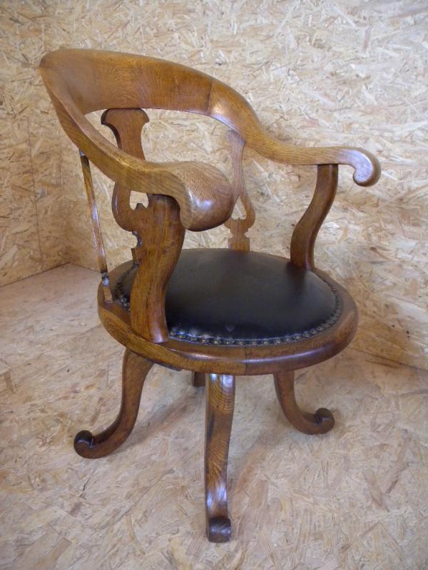 Stuhl Antik Biedermeier Burostuhl Drehstuhl